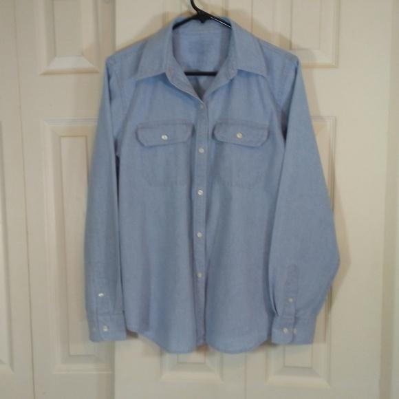 80ebb229920 Ralph Lauren Chaps Tops   Chambray Button Up Shirt   Poshmark